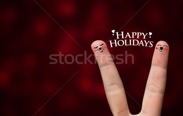Happy finger hug Stock photo © ra2studio