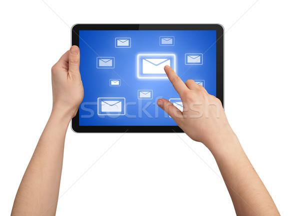 Erkek el touchpad pc bir Stok fotoğraf © ra2studio