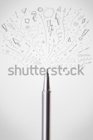 Mum boya bo kalem arka plan sanat araç Stok fotoğraf © ra2studio