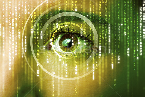 Foto stock: Moderna · mujer · matriz · ojo · médicos · tecnología