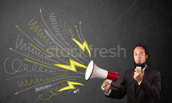 Líder cara megafone linhas Foto stock © ra2studio