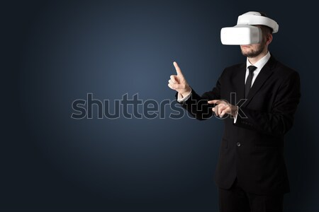 пустой комнате человека очки бизнесмен белый нет Сток-фото © ra2studio