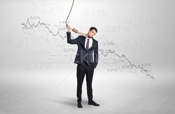 絶望的な ビジネスマン 損失 小さな 死 執行 ストックフォト © ra2studio
