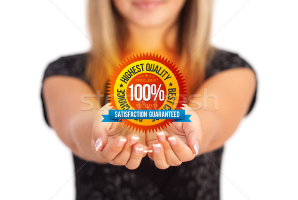 hands holding Business symbol Stock photo © ra2studio