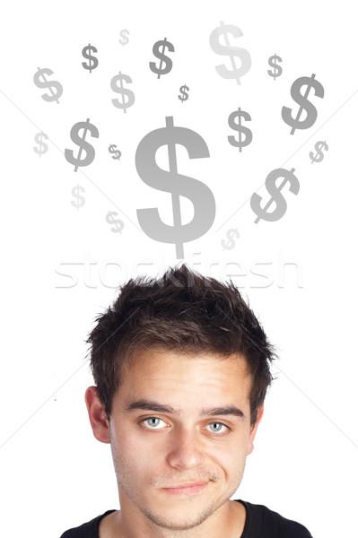 молодые голову глядя бизнеса иконки Сток-фото © ra2studio