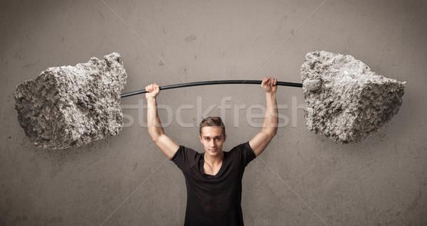 мышечный человека большой рок каменные Сток-фото © ra2studio