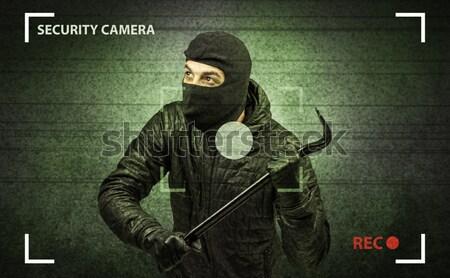 Stock fotó: Betörő · tevékenység · ház · kamera · kéz · fal