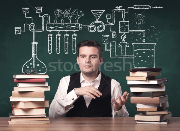 öğretmen kimya sınıf genç kimyasal süreç Stok fotoğraf © ra2studio