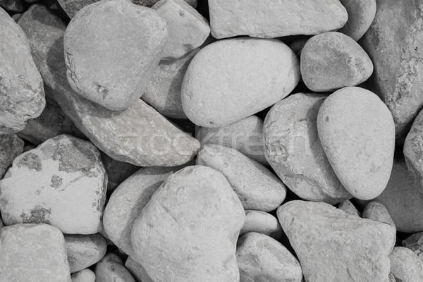 Dekoratív padló textúra sóder kövek építkezés Stock fotó © ra2studio