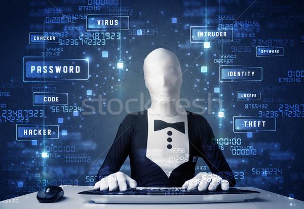 человека личности технологий иконки компьютер Сток-фото © ra2studio