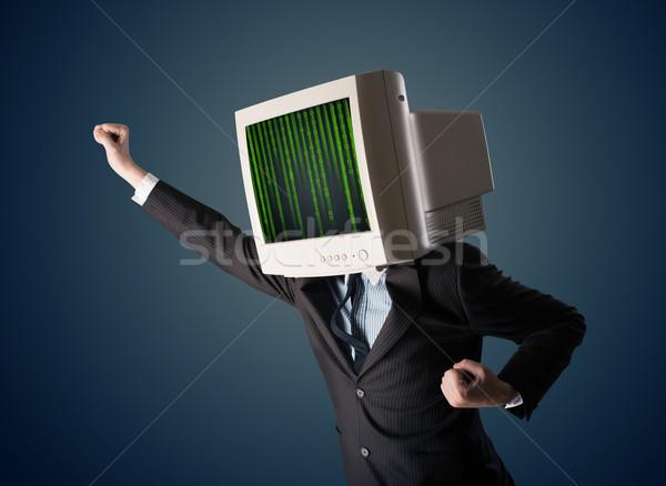 人間 モニター 画面 コンピュータ コード ビジネス ストックフォト © ra2studio