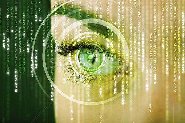 現代 女性 行列 眼 医療 技術 ストックフォト © ra2studio