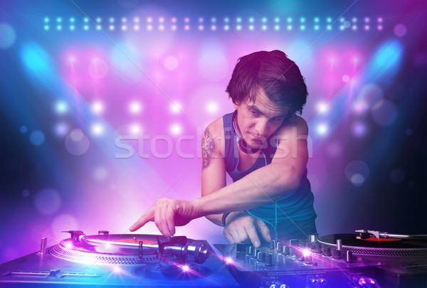 ディスクジョッキー 音楽 ターン ステージ ライト 小さな ストックフォト © ra2studio