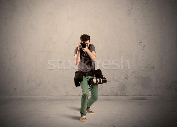 Hobby fotograaf camera professionele mannelijke Stockfoto © ra2studio
