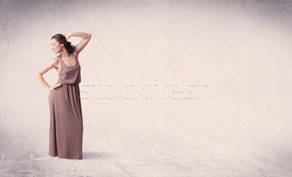 Moderno ballerino di danza classica arte Vai vuota Foto d'archivio © ra2studio