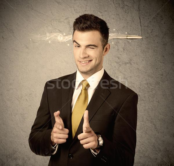 Gyors kreatív eladó fickó dohányzás lövedék Stock fotó © ra2studio