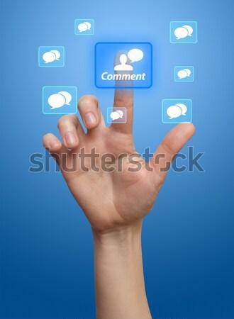 Telefone dispositivo perfil elegante mão Foto stock © ra2studio