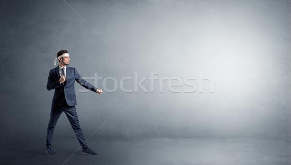 Wenig Karate Mann kämpfen leer Stock foto © ra2studio