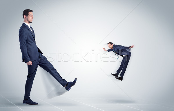 Stock photo: Young businessman fired by boss