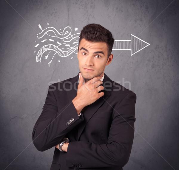 Sprzedaży osoby problem elegancki biznesmen garnitur Zdjęcia stock © ra2studio