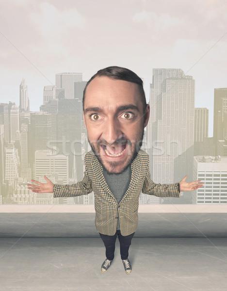Person with big head Stock photo © ra2studio