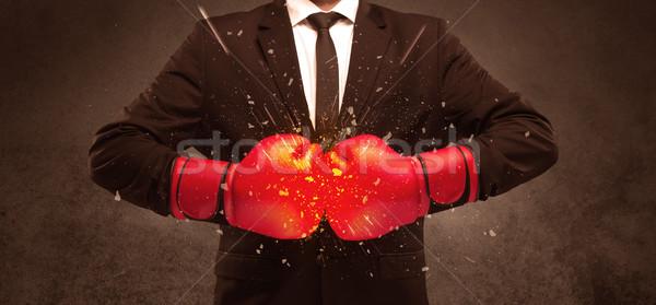Breaking with boxing Stock photo © ra2studio