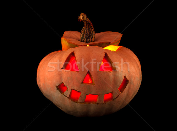 Halloween geïsoleerd zwarte voedsel gezicht Stockfoto © ra2studio