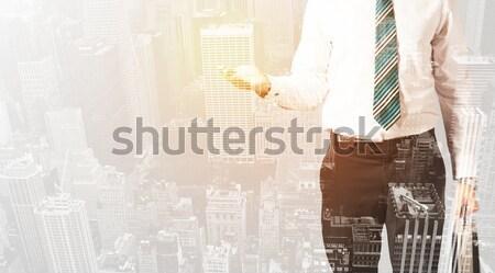 Empresário quente cor cidade homem de negócios textura Foto stock © ra2studio