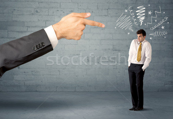 Unprofessional salesman being fired Stock photo © ra2studio