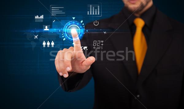 élégant affaires toucher avenir web technologie Photo stock © ra2studio