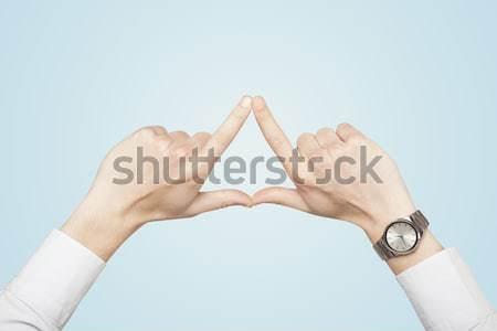 Eller form arka plan imzalamak cilt Stok fotoğraf © ra2studio