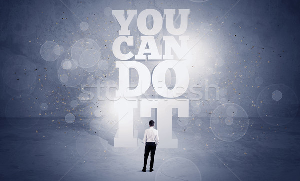 Salesman you can do it motivation Stock photo © ra2studio