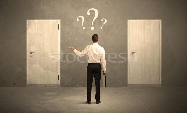 ビジネスマン 立って ドア セールスマン 2 ストックフォト © ra2studio