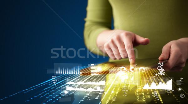 стороны touchpad таблетка бизнеса рынке Сток-фото © ra2studio