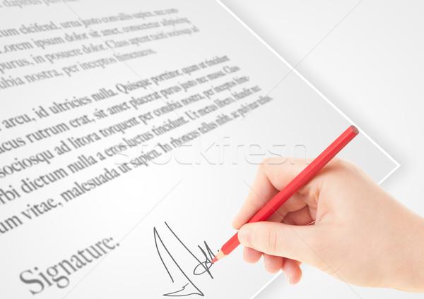 Strony piśmie osobowych podpis papieru formularza Zdjęcia stock © ra2studio