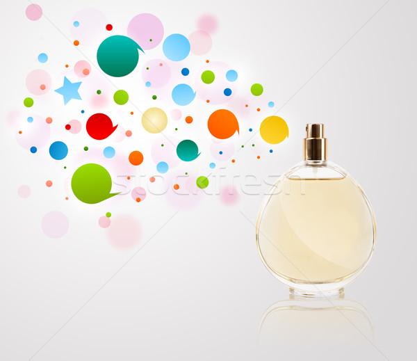 духи бутылку пузырьки красочный подарок Сток-фото © ra2studio