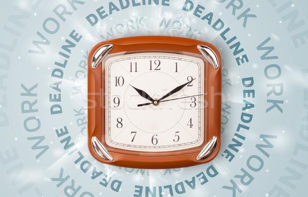 Clocks with work and deadline round writing Stock photo © ra2studio