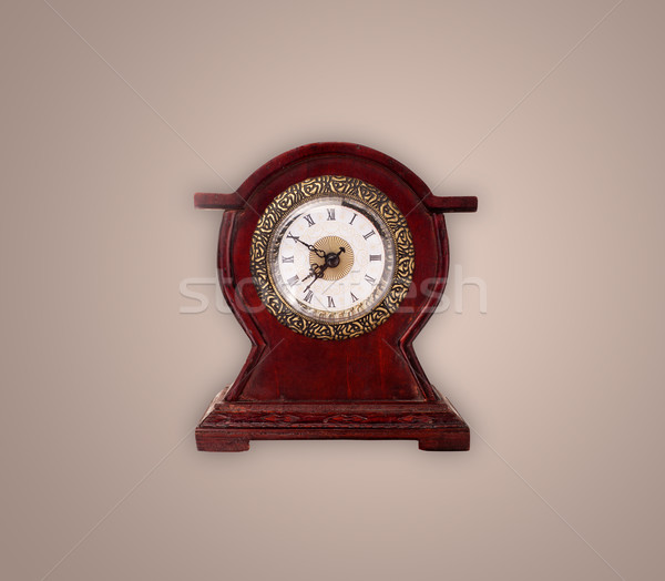 Vintage old clock with showing preicse time Stock photo © ra2studio
