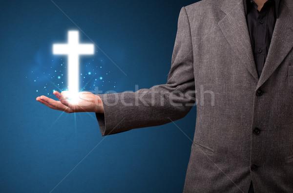 Сток-фото: крест · стороны · бизнесмен · молодые