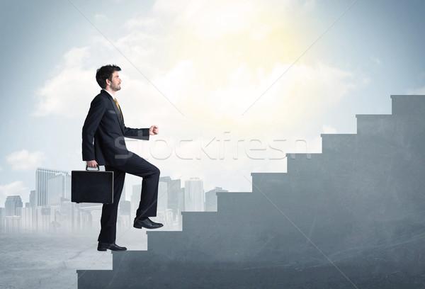 Affaires escalade up concrètes escalier ville Photo stock © ra2studio