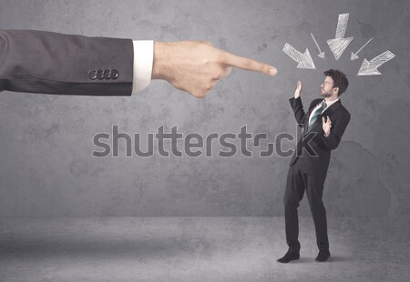 Iş el sıkışma işadamı soru işaretleri etrafında Stok fotoğraf © ra2studio