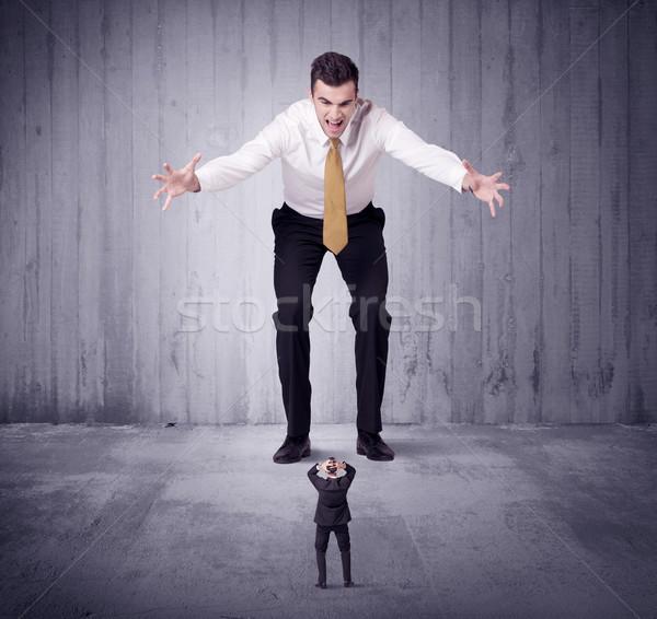 Hatalmas főnök kisvállalkozás férfi menedzser munka Stock fotó © ra2studio