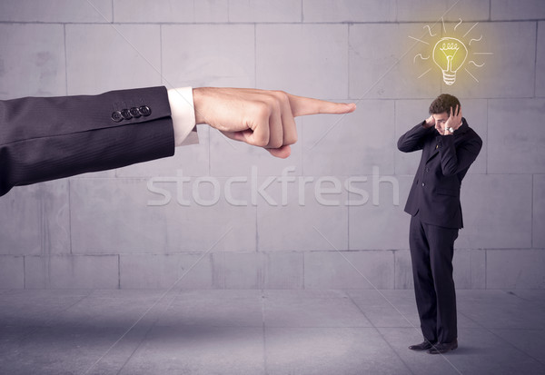 Stock photo: Boss blaming sales person with an idea