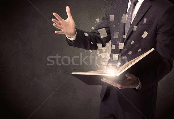 Man reading book. Stock photo © ra2studio