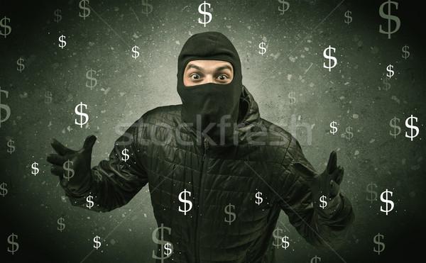 Soldi fame ladro nero vestiti mano Foto d'archivio © ra2studio