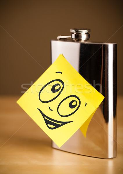 Nota rosto sorridente quadril papel Foto stock © ra2studio
