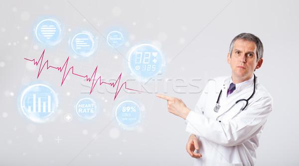 Médico moderno batida de coração gráficos clínico médico Foto stock © ra2studio
