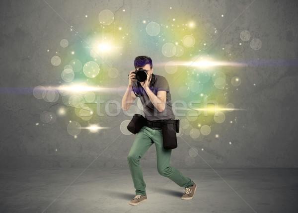 Fotograaf lichten jonge amateur professionele Stockfoto © ra2studio