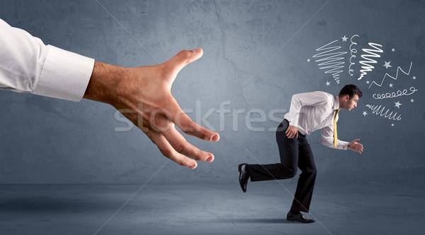 напряженный бизнесмен работает большой стороны бизнеса Сток-фото © ra2studio
