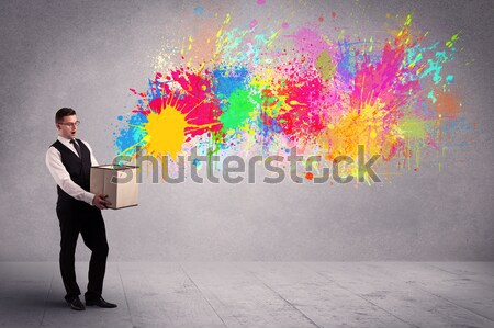 Young woman with energetic exploding red hair  Stock photo © ra2studio